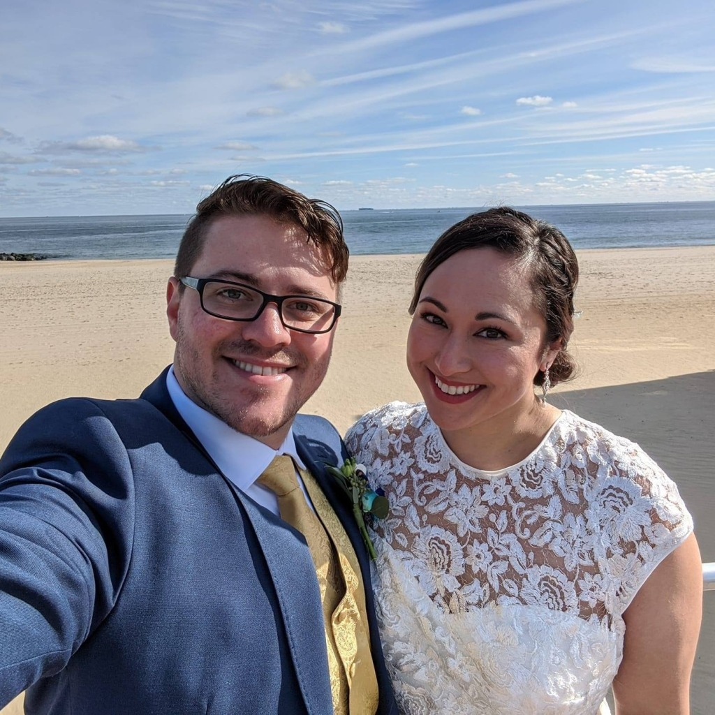 Sean and Nicole - wedding day selfie